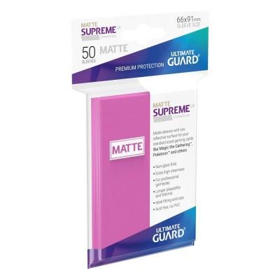 Protèges Cartes  50 Pochettes - Supreme UX - Rose Matte
