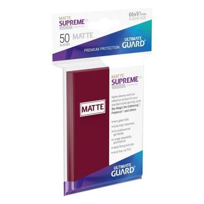 Protèges Cartes  50 Pochettes - Supreme UX - Bourgogne Matte