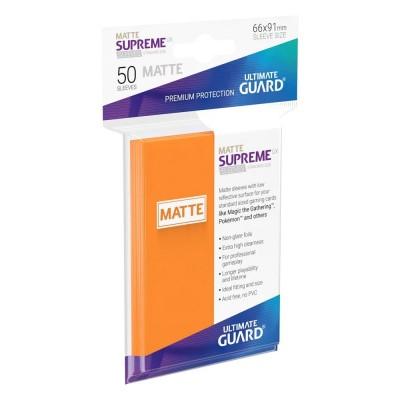 Protèges Cartes 50 Pochettes - Supreme UX - Orange Matte