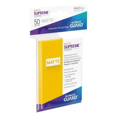 Protèges Cartes 50 Pochettes - Supreme UX - Jaune Matte