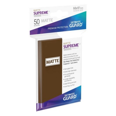 Protèges Cartes  50 Pochettes - Supreme UX - Marron Matte
