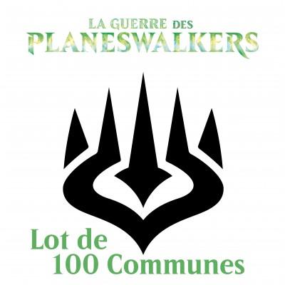 Lot de Cartes Magic the Gathering La Guerre des Planeswalkers - Lot de 100 Communes en Vrac
