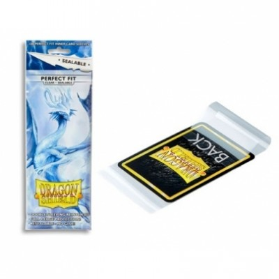 Protèges Cartes 100 pochettes - Perfect Fit Sealable Sleeves - Clear