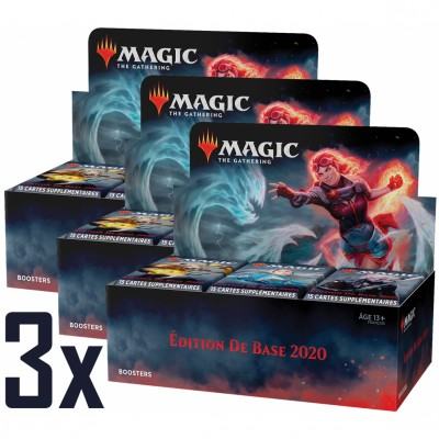 Boites de Boosters Magic the Gathering Edition de base 2020 - Lot de 3