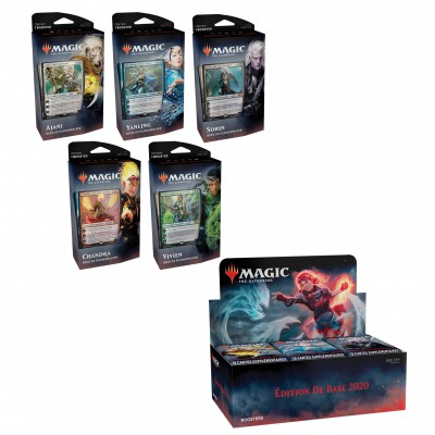 Offres Spéciales Magic the Gathering Edition de base 2020 - Super Pack : Boite VF + 5 Decks VF