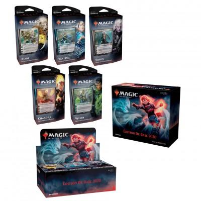 Offres Spéciales Magic the Gathering Edition de base 2020 - Mega Pack : Boite VF + 5 Decks VF + Bundle VF