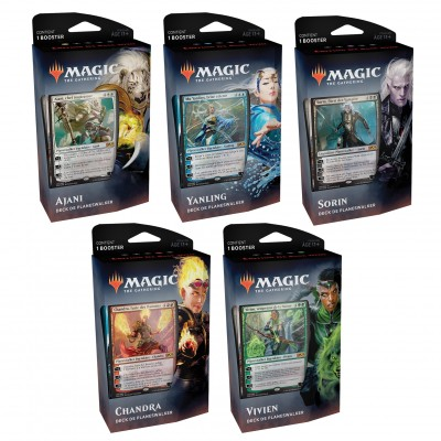 Decks Magic the Gathering Edition de base 2020 - Planeswalker Decks - Lot des 5