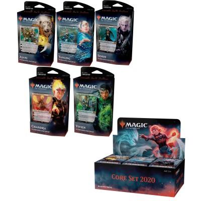 Offres Spéciales Magic the Gathering Core set 2020 - Super Pack : Boite VO + 5 Decks VO