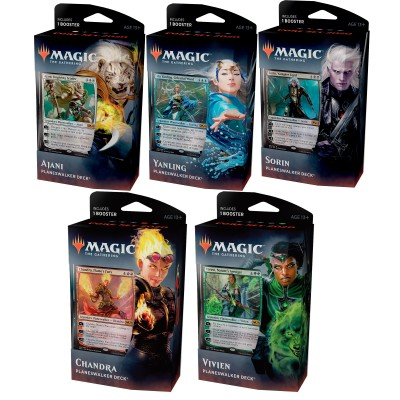 Decks Magic the Gathering Core set 2020 - Planeswalker Decks - Lot des 5