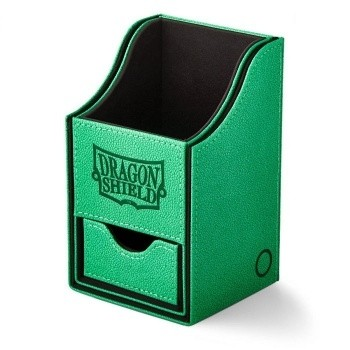 Boites de Rangements  Nest 100+ Deck Box Dice Tray - Green/Black