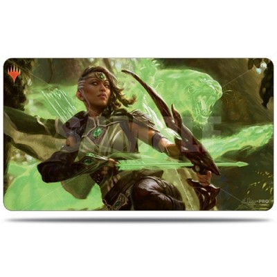 Tapis de Jeu Magic the Gathering Edition de Base 2020 - Playmat - Vivien, ranger au bestiarc