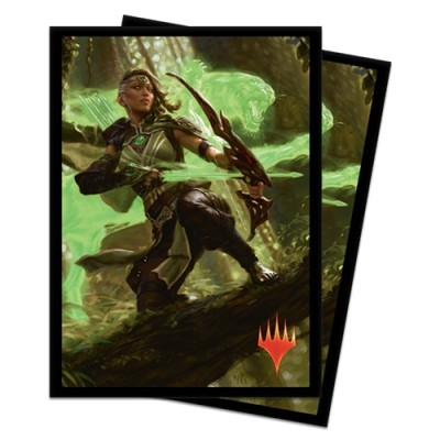 Protèges Cartes illustrées Magic the Gathering Edition de Base 2020 - 100 Pochettes - Vivien, ranger au bestiarc
