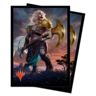 Protèges Cartes illustrées Magic the Gathering Edition de Base 2020 - 100 Pochettes - Ajani, force de la bande