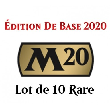 Lot de Cartes Magic the Gathering Edition de Base 2020 - Lot 10 Rares