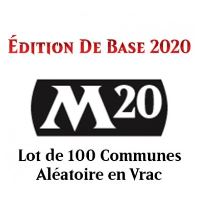 Lot de Cartes Magic the Gathering Edition de Base 2020 - Lot de 100 Communes en Vrac