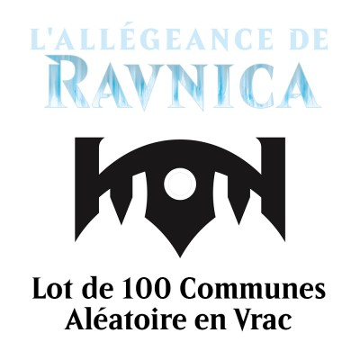 Lot de Cartes Magic the Gathering L'Allégeance de Ravnica - Lot de 100 Communes en Vrac