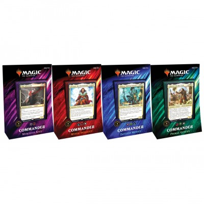 Decks Magic the Gathering Commander 2019 - Lot de 4 différents