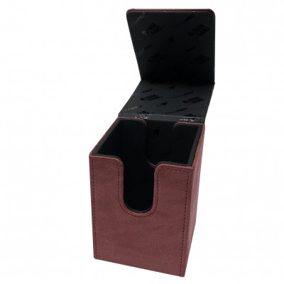 Boites de Rangements  Alcove Flip Box - Suede Collection - Ruby