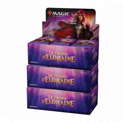 Boites de Boosters Magic the Gathering Le Trône d'Eldraine - Lot de 3