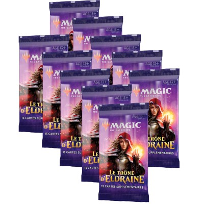 Boosters Magic the Gathering Le Trône d'Eldraine - Lot de 10
