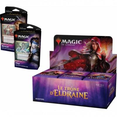 Offres Spéciales Magic the Gathering Le Trône d'Eldraine - Super Pack : Boite VF + 2 Decks VF