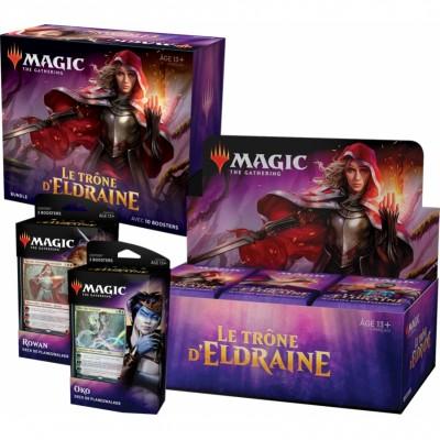 Offres Spéciales Magic the Gathering Le Trône d'Eldraine - Mega Pack : Boite VF + 2 Decks VF + Bundle VF