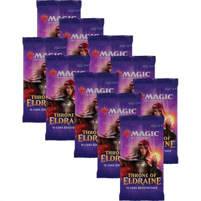 Boosters Magic the Gathering Throne of Eldraine - Lot de 10