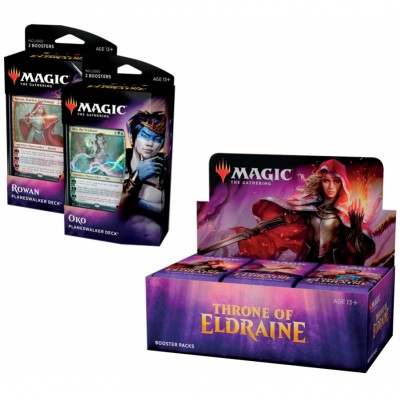 Offres Spéciales Magic the Gathering Throne of Eldraine - Super Pack : Boite VO + 2 Decks VO