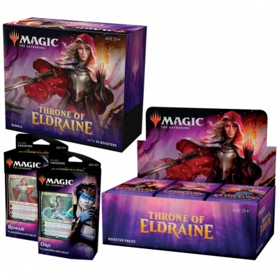 Offres Spéciales Magic the Gathering Throne of Eldraine - Mega Pack : Boite VO + 2 Decks VO + Bundle VO