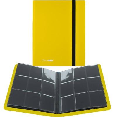 Portfolio  A4 Pro-Binder - ECLIPSE - 20 pages de 9 cases (360 cartes recto-verso) - Lemon Yellow