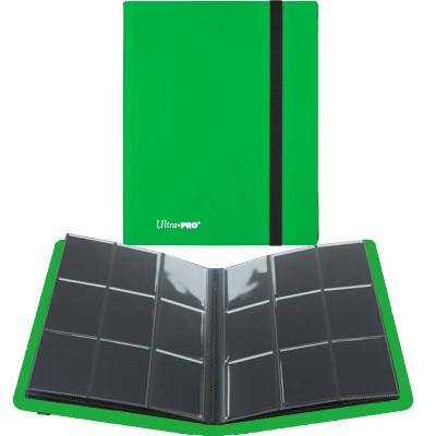Portfolio  A4 Pro-Binder - ECLIPSE - 20 pages de 9 cases (360 cartes recto-verso) - Lime Green