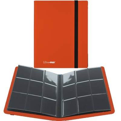 Portfolio  A4 Pro-Binder - ECLIPSE - 20 pages de 9 cases (360 cartes recto-verso) - Pumpkin Orange