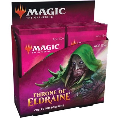 Boosters Magic the Gathering Throne of Eldraine - Collector Boosters - lot de 12