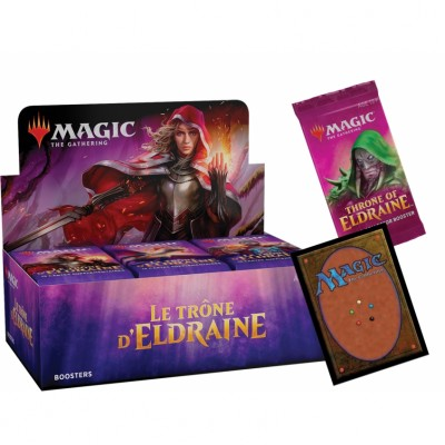 Boites de Boosters Magic the Gathering Le Trône d'Eldraine + Carte Promo + Booster Collector (Retrait magasin)