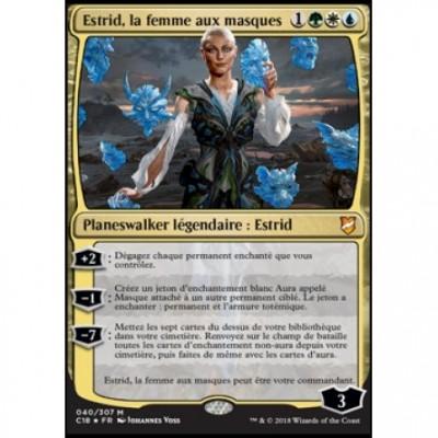 Grande Carte Oversized Oversized Commander 2018 - Estrid, la femme aux masques (en français)