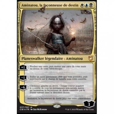 Grandes Cartes Oversized Magic the Gathering Oversized Commander 2018 - Aminatou, la façonneuse de destin (en français)