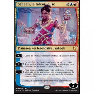 Grande Carte Oversized Magic the Gathering Oversized Commander 2018 - Saheeli, la talentueuse (en français)