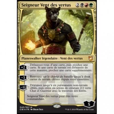 Grandes Cartes Oversized Oversized Commander 2018 - Seigneur Vent des vertus (en français)