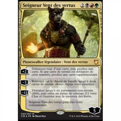 Grande Carte Oversized Magic the Gathering Oversized Commander 2018 - Seigneur Vent des vertus (en français)