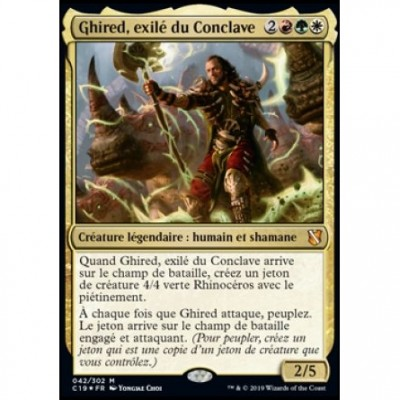 Grandes Cartes Oversized Magic the Gathering Oversized Commander 2019 - Ghired, exilé du Conclave (en français)