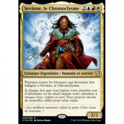 Grande Carte Oversized Magic the Gathering Oversized Commander 2019 - Sevinne, le Chronoclysme (en français)