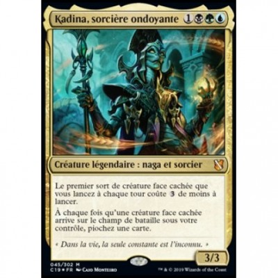 Grandes Cartes Oversized Magic the Gathering Oversized Commander 2019 - Kadina, sorcière ondoyante (en français)