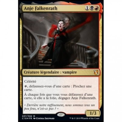Grandes Cartes Oversized Magic the Gathering Oversized Commander 2019 - Anje Falkenrath (en français)