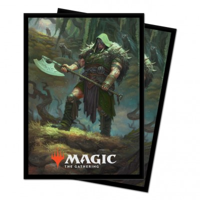 Protèges Cartes illustrées Magic the Gathering Le Trône d'Eldraine - Garruk, chasseur maudit