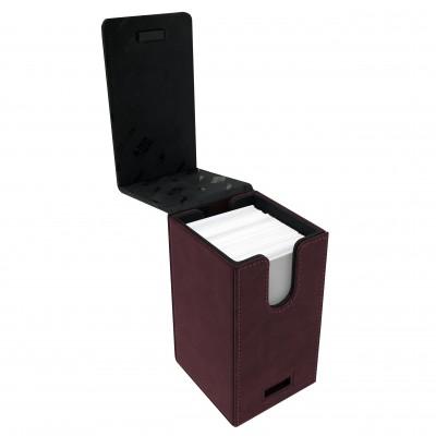 Boites de Rangements  Alcove Tower Suede Collection Deck Box - Ruby