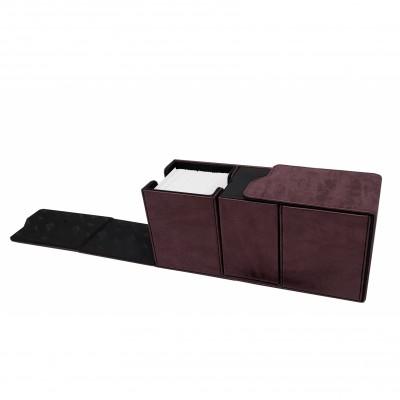 Boites de Rangements Suede Collection Alcove Vault Deck Box - Ruby