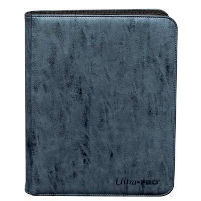 Portfolios Zippered Suede 9-Pocket Premium PRO-Binder - Sapphire