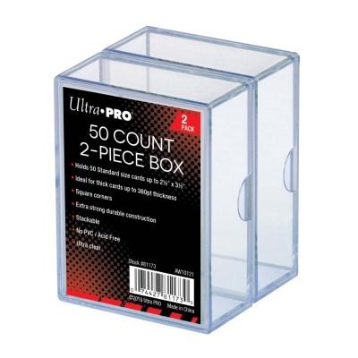 Boites de Rangements  Card Storage Box 50 - Super Clear - par 2