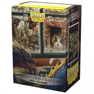 Protèges Cartes illustrées  100 pochettes - Christmas Dragon