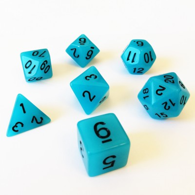 Dés Set De 7 Dés - Role Playing Dice Set - Phosphorescent - Brille dans la Nuit (couleur selon stock)